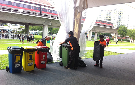 Qool Enviro event cleaning at one of the outdoor events