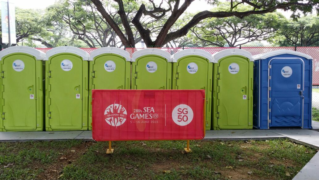 Qool Enviro portable toilet in 28th sea games singapore