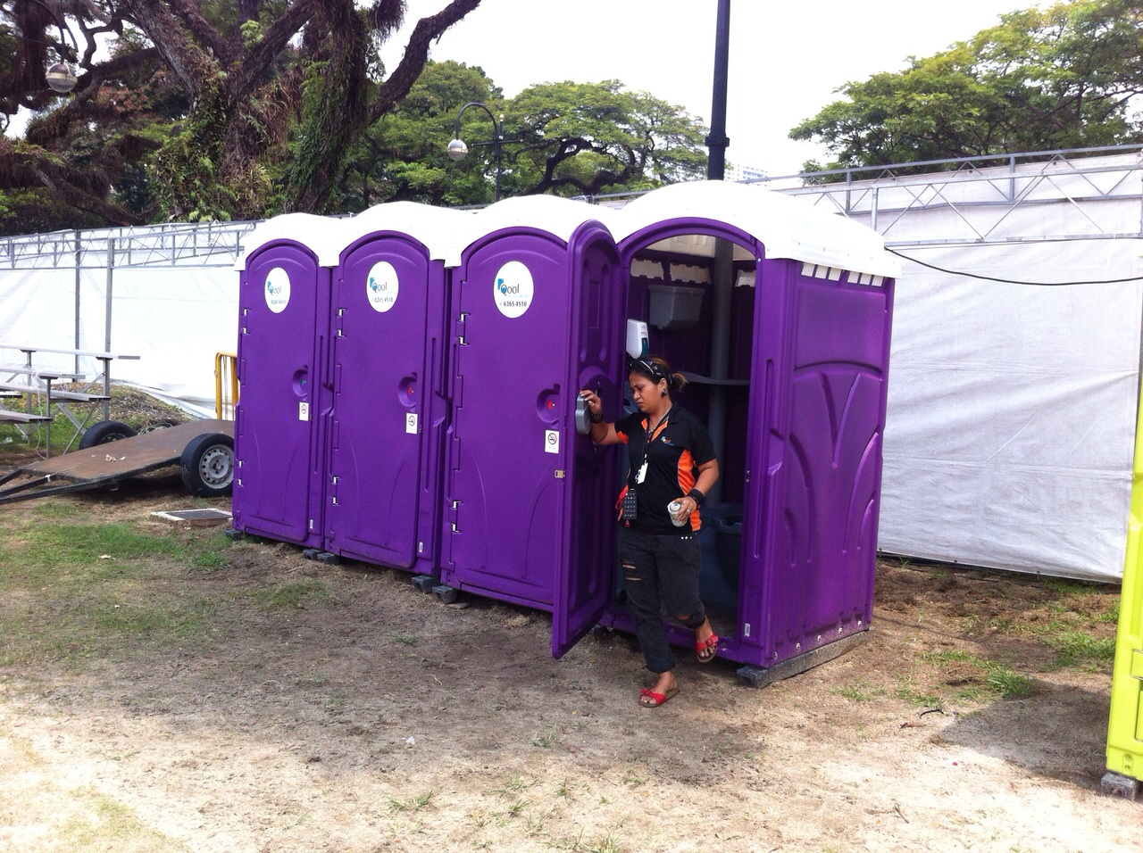 Qool Enviro portable toilet in rugby 7s 4