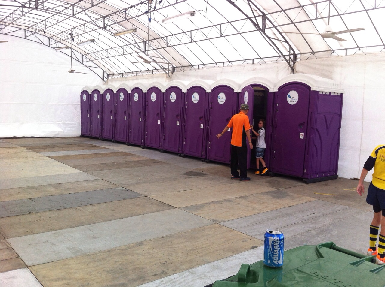 Qool Enviro portable toilet in rugby 7s 6