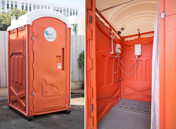 Qool Enviro shower portable room