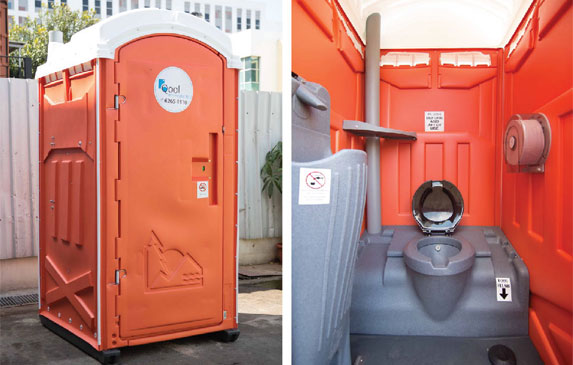 Qool Enviro straight flush western portable toilet