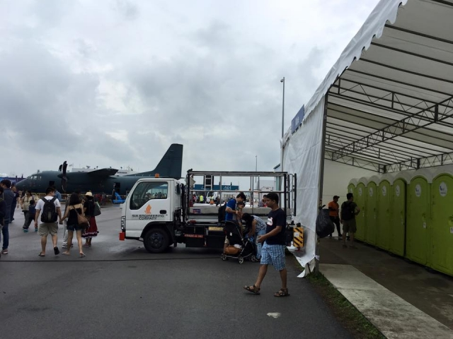 portable toilet in singapore airshow 1