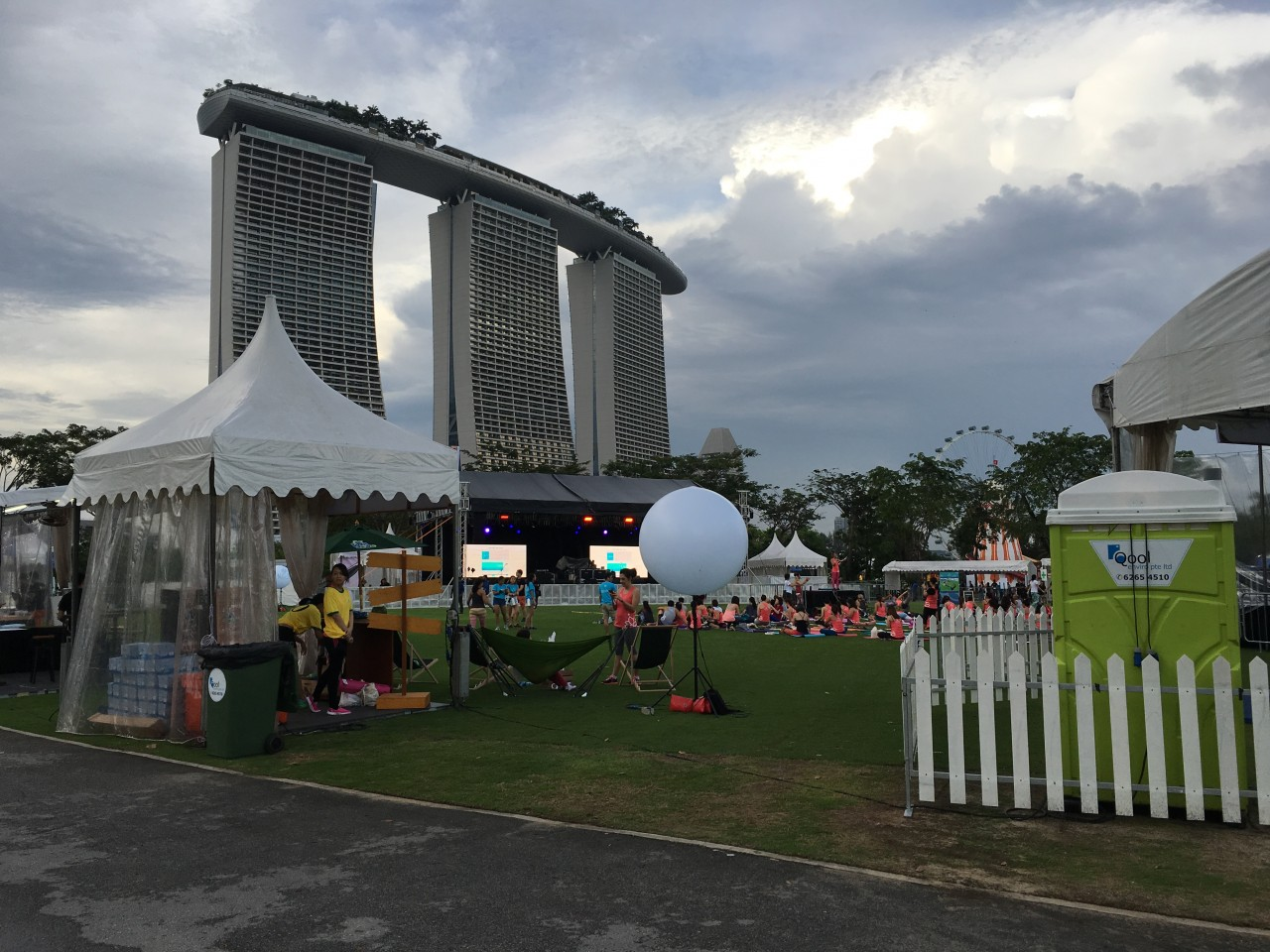 Qool Enviro portable toilet in bliss out singapore 2015
